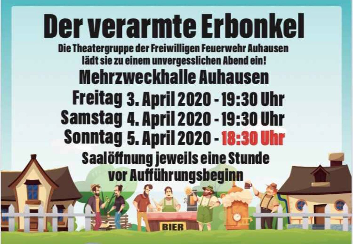 Flyer Theater Auhausen 2020 - Front